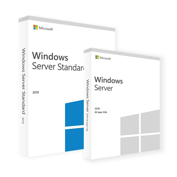 Microsoft Windows Server 2019 Standard 16 Core & 10 User CALs
