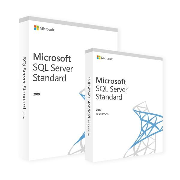 Microsoft SQL Server 2019 Standard & 10 User CALs
