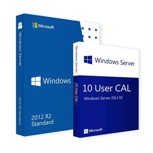 Microsoft Windows Server 2012 R2 Standard & 10 User CALs
