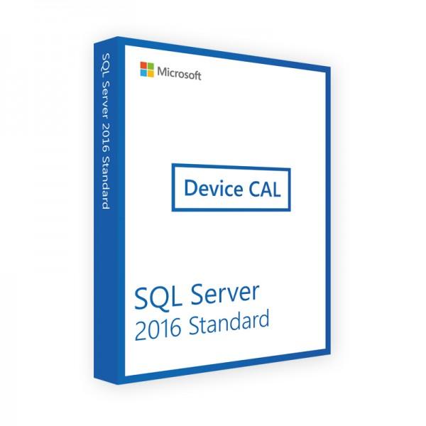 Microsoft SQL Server 2016 Standard 10 Device CALs
