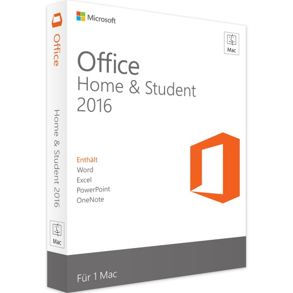 Microsoft Office 2016 Home and Student MAC Version