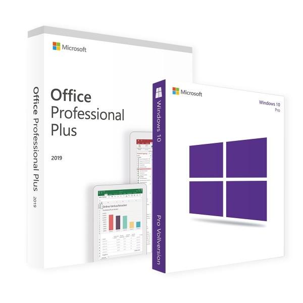Microsoft Windows 10 Pro & Office Professional Plus 2019