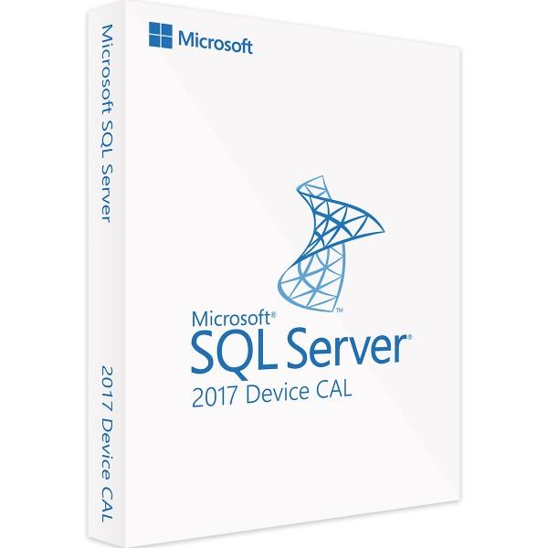 Microsoft SQL Server 2017 Standard 10 Device CALs