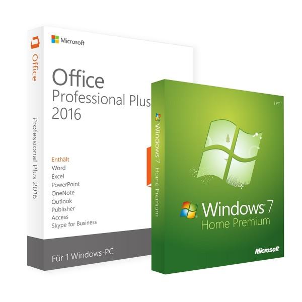 Microsoft Windows 7 Home & Office Professional Plus 2016