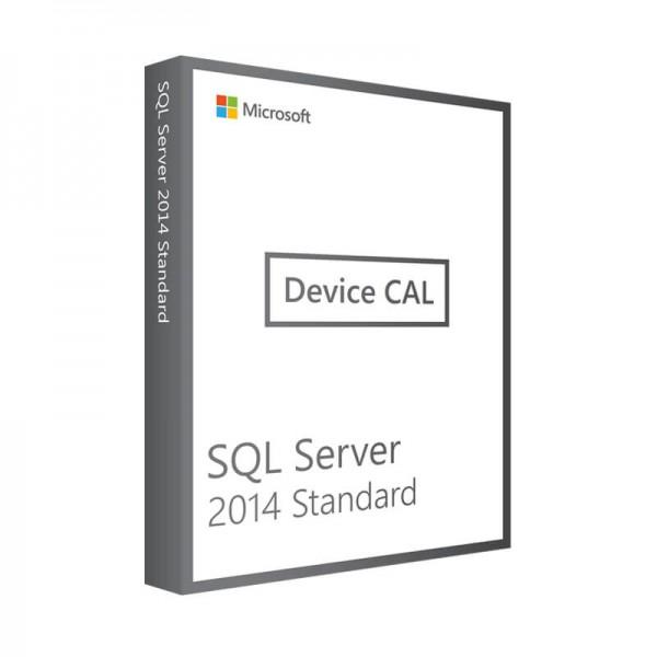 Microsoft SQL Server 2014 Standard - 1 Device CAL