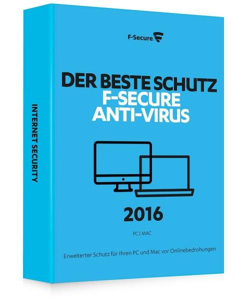 F-Secure Anti-Virus 2016 für PC und Mac