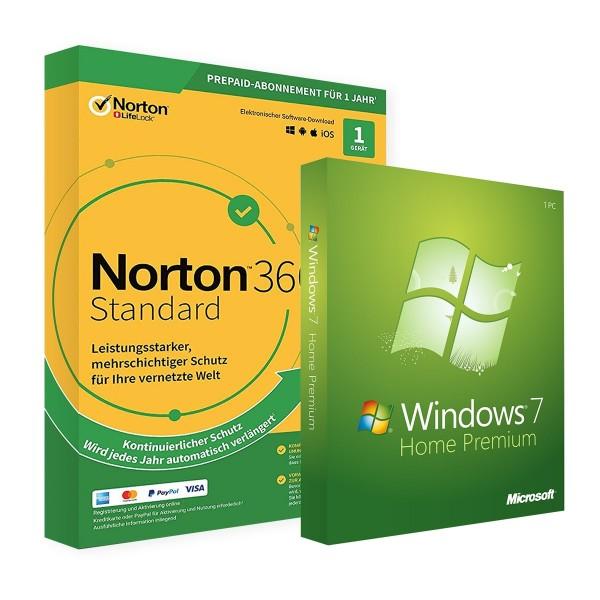 Microsoft Windows 7 Home & Norton 360 Standard